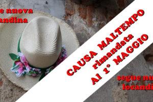 """14 aprile: """"Festa di Primavera"""" RIMANDATA al 1° MAGGIO"""