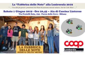 """01 giugno: """"La Fabbrica delle Note alla Lusiroeula 2019"""""""