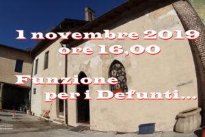 """1 novembre: """"Funzione per i Defunti…"""""""