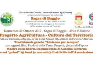 """20 ottobre: """"Gli Amici di Cascina Linterno alla Sagra di Baggio"""""""